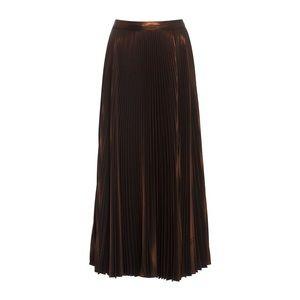 A.L.C. Skirts - A.L.C. Bobby Pleated Lamé Midi Skirt, Rose Gold